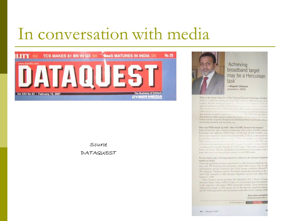In conversation with media Source DATAQUEST