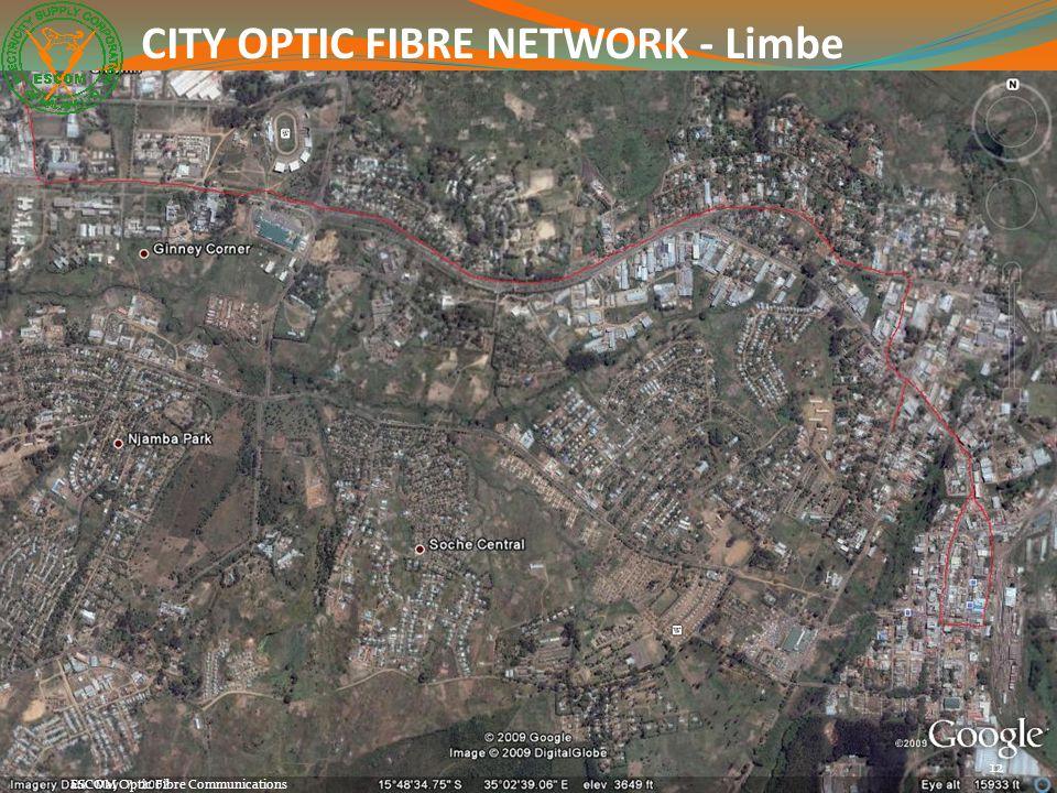 12 ESCOM Optic Fibre Communications CITY OPTIC FIBRE NETWORK - Limbe