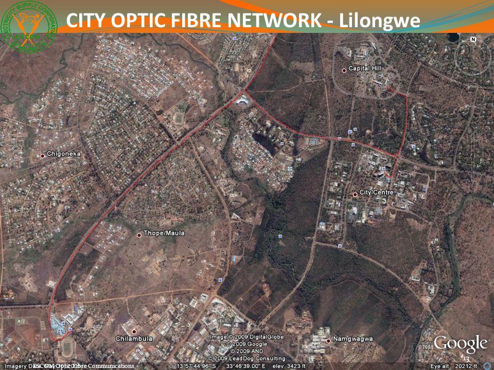 13 ESCOM Optic Fibre Communications CITY OPTIC FIBRE NETWORK - Lilongwe