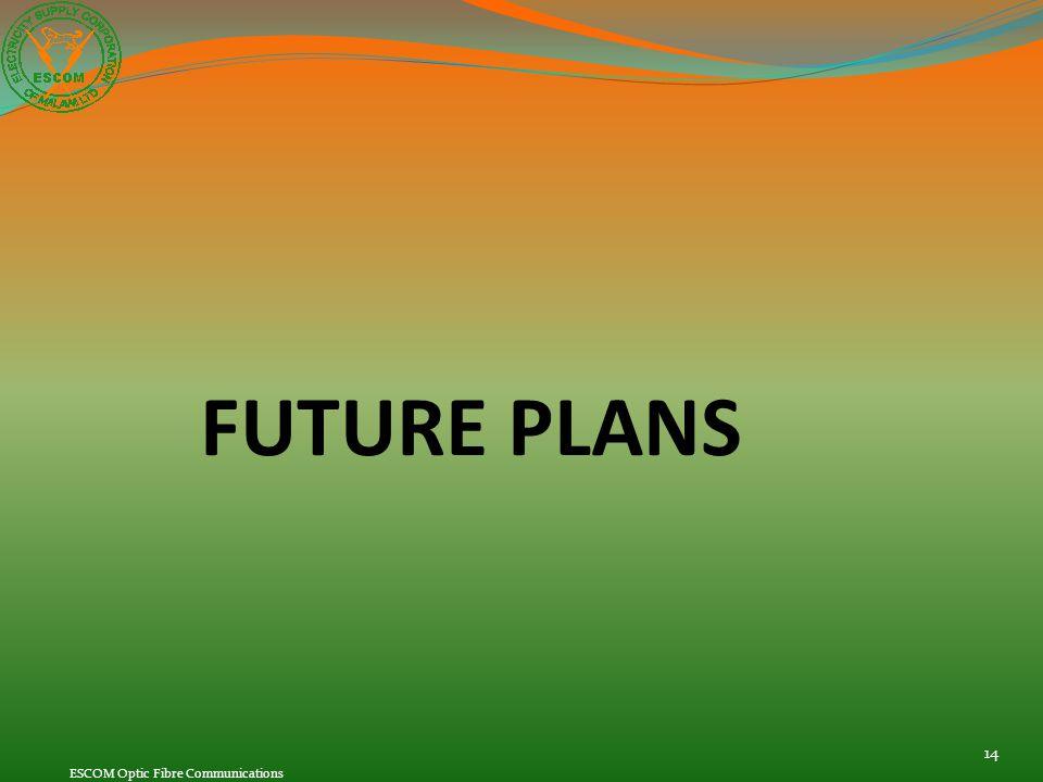 FUTURE PLANS 14 ESCOM Optic Fibre Communications
