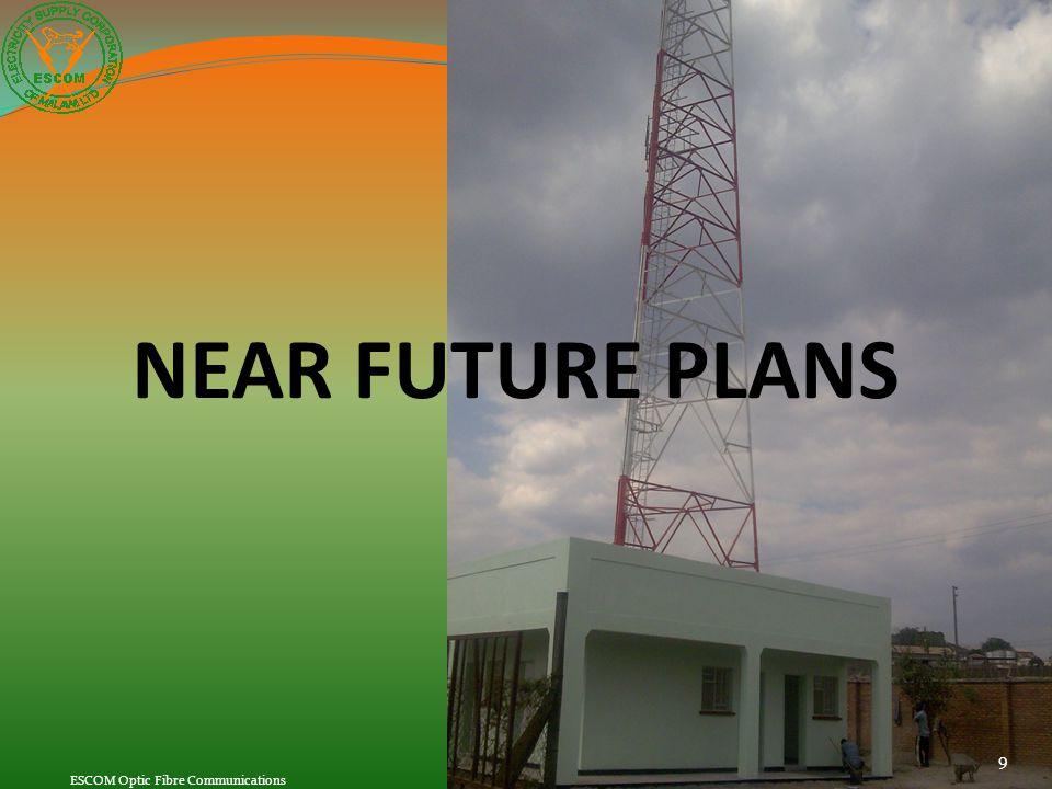 NEAR FUTURE PLANS 9 ESCOM Optic Fibre Communications