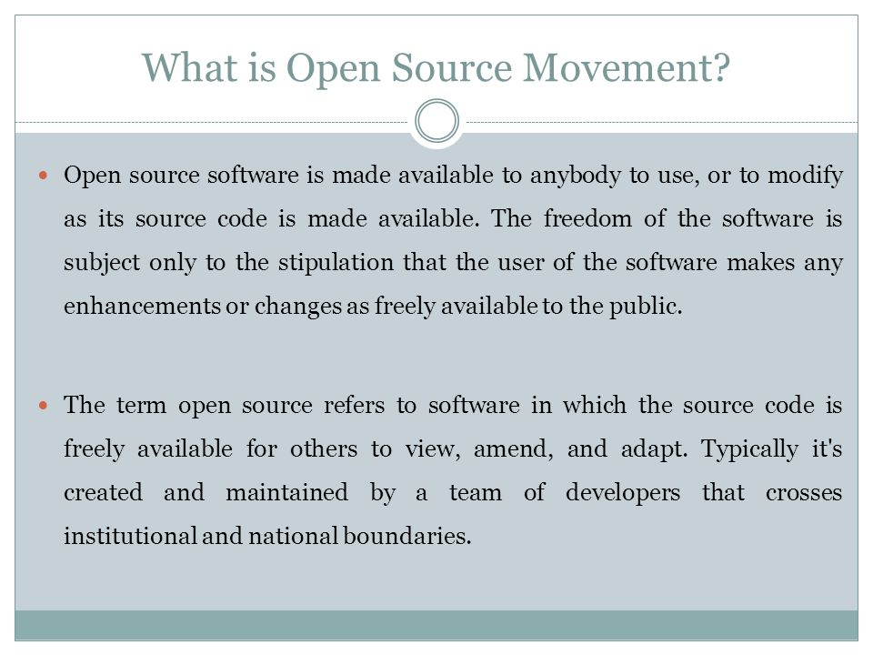 What is Open Source Movement.