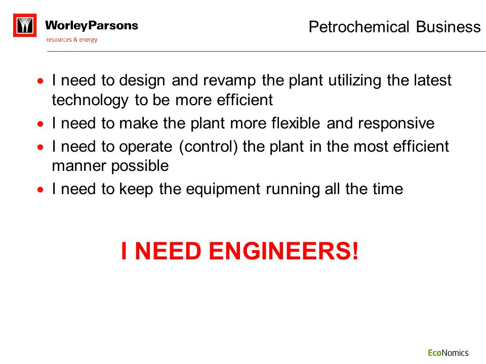  I need to design and revamp the plant utilizing the latest technology to be more efficient  I need to make the plant more flexible and responsive 