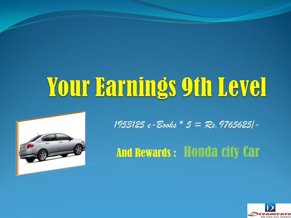 390625 e-Books * 5 = Rs.1953125/- And Rewards : Aulto Car