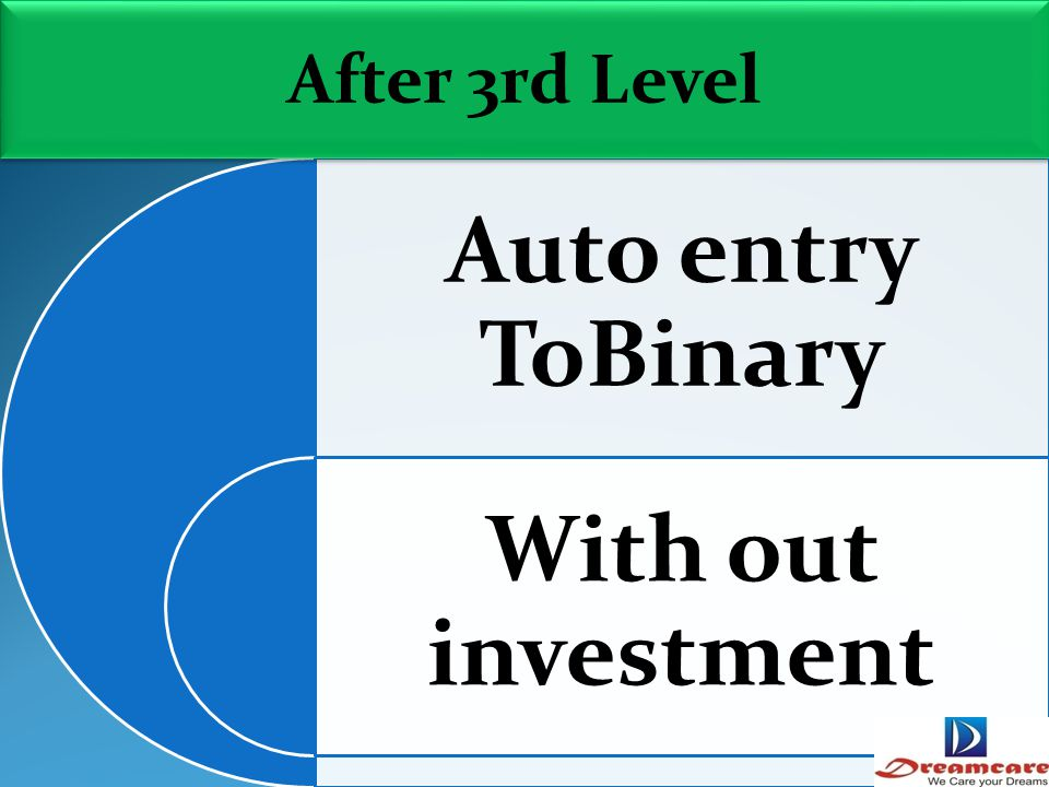 Auto entry ToBinary With out investment After 3rd Level