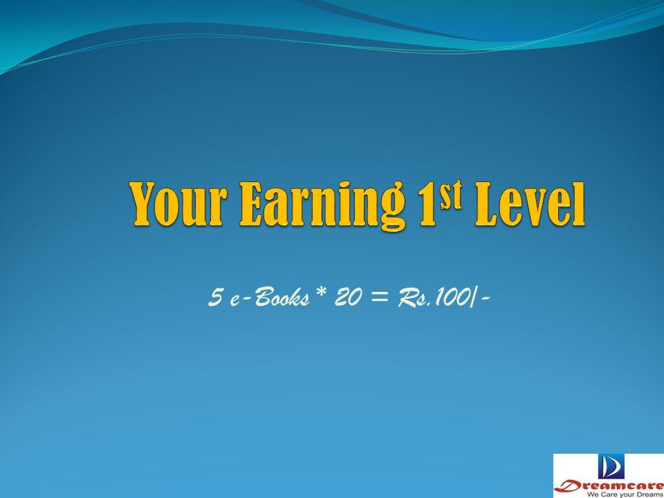 Sale 5 e-Books in first level & duplicate the same