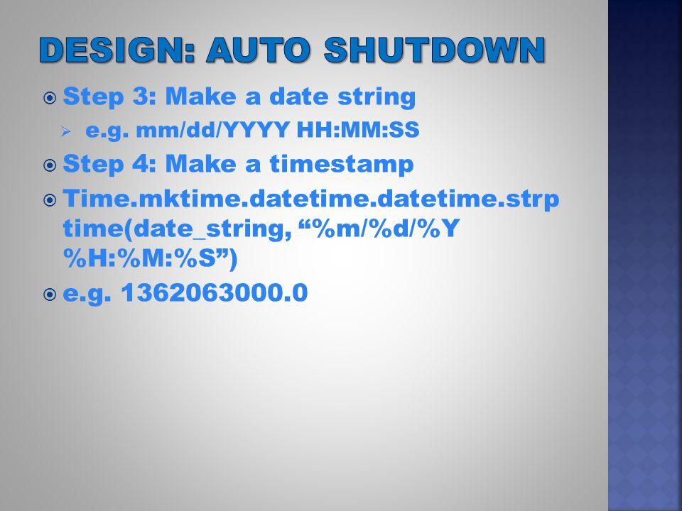  Step 3: Make a date string  e.g.