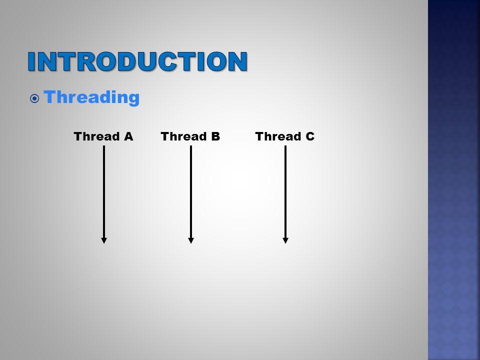  Threading Thread A Thread BThread C
