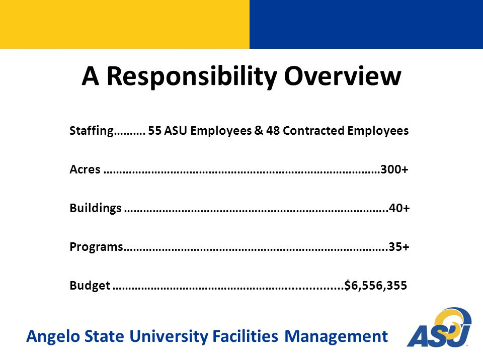 A Responsibility Overview Staffing……….