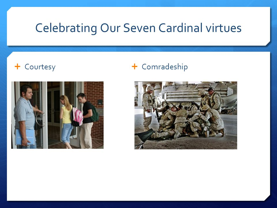 Celebrating Our Seven Cardinal Virtues  Filial Love  Reverence for Sacred Things