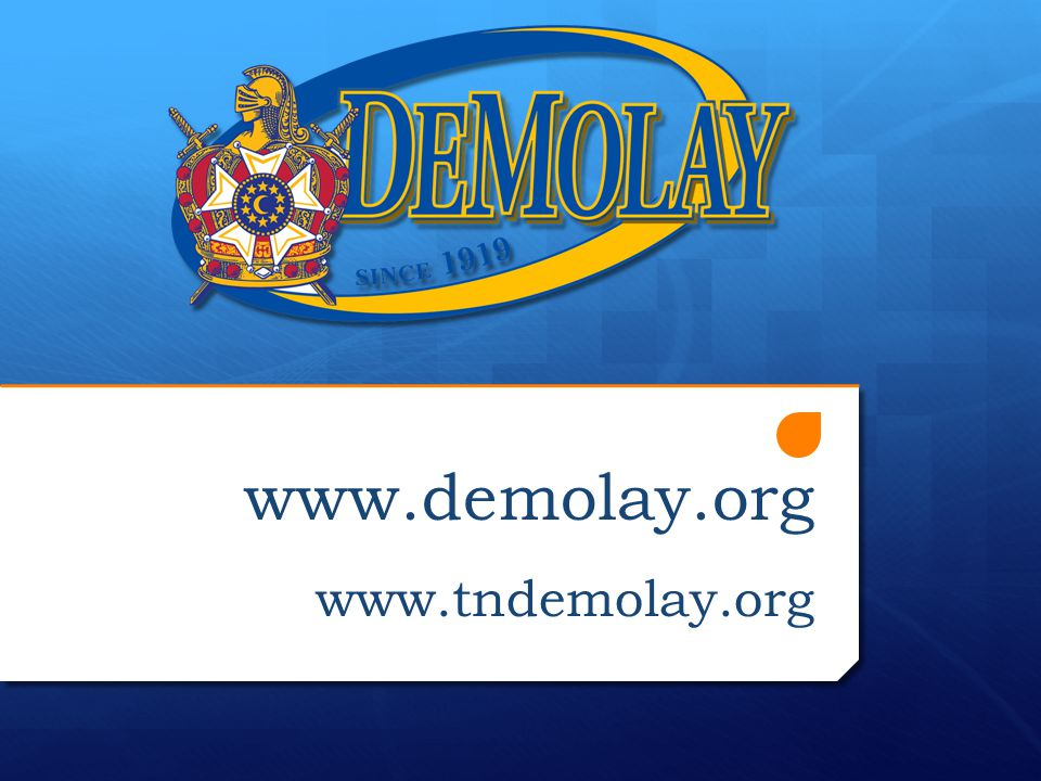 Join Us In The Kingdom Today! www.kingdomofdemolay.org