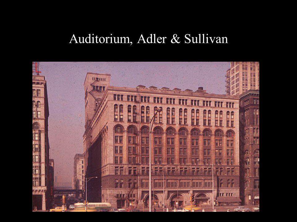 Auditorium, Adler & Sullivan