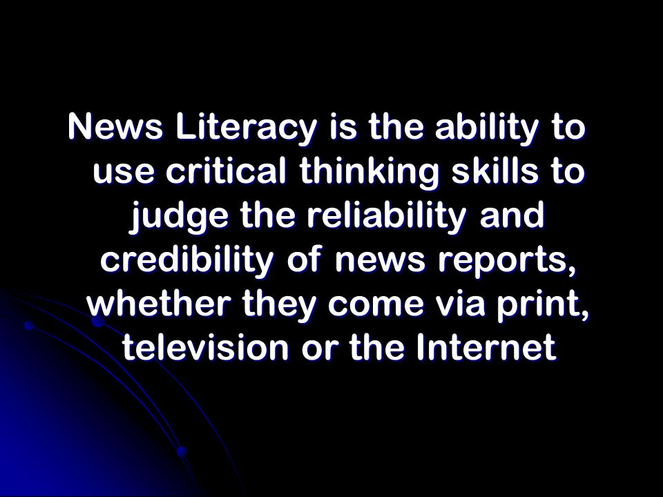 The Center For News Literacy