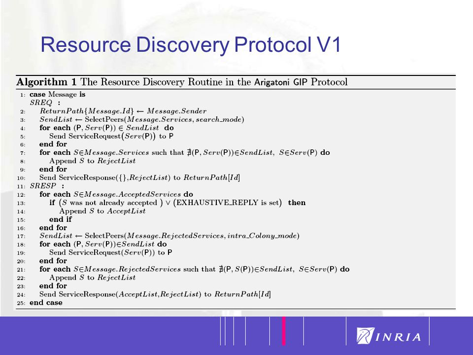 16 Resource Discovery Protocol V1