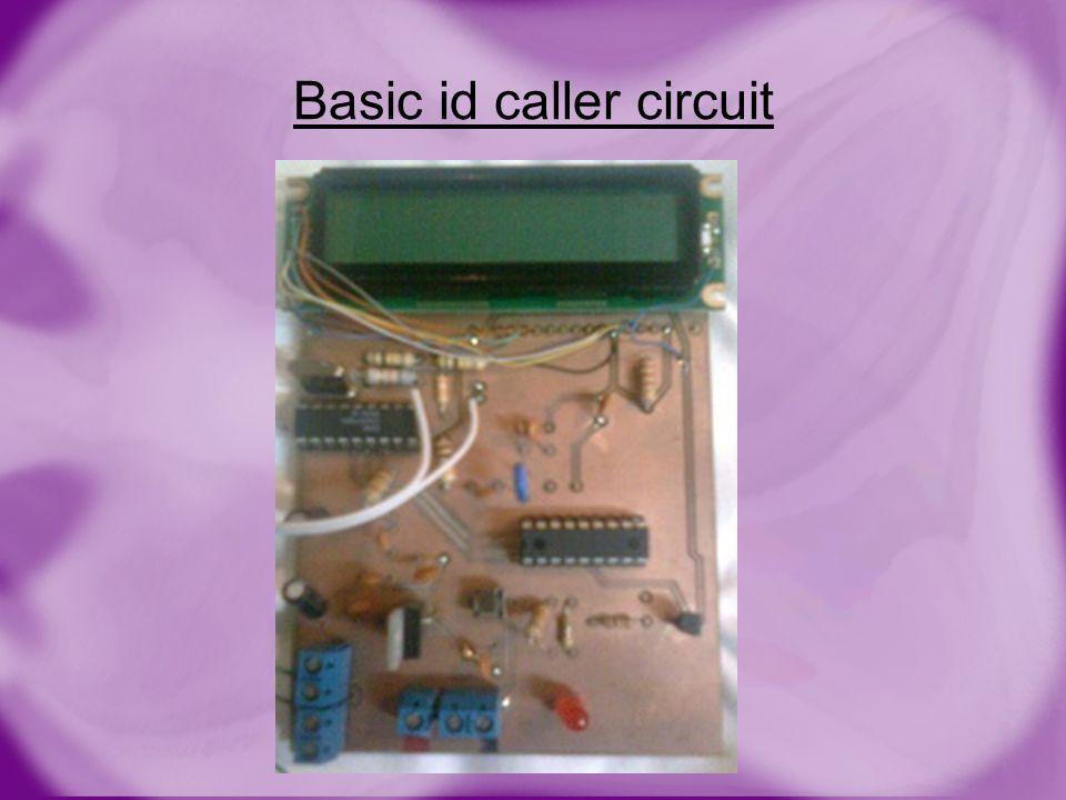 Basic id caller circuit