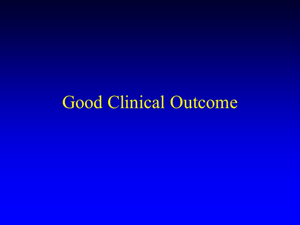 Good Clinical Outcome