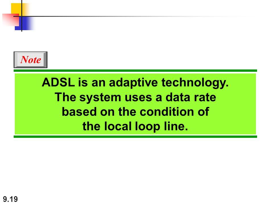 9.19 ADSL is an adaptive technology.