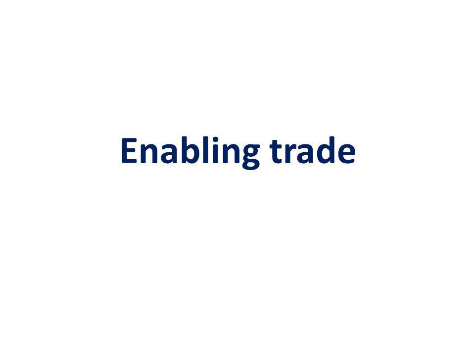 Enabling trade