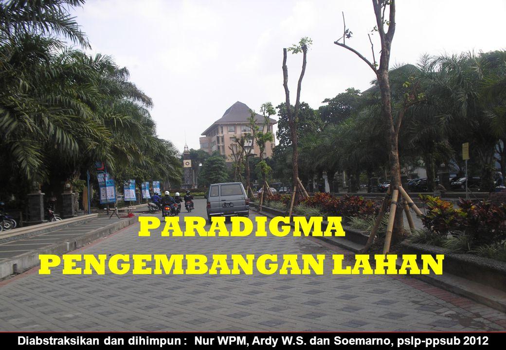 Diabstraksikan dan dihimpun : Nur WPM, Ardy W.S. dan Soemarno, pslp-ppsub 2012 PARADIGMA PENGEMBANGAN LAHAN