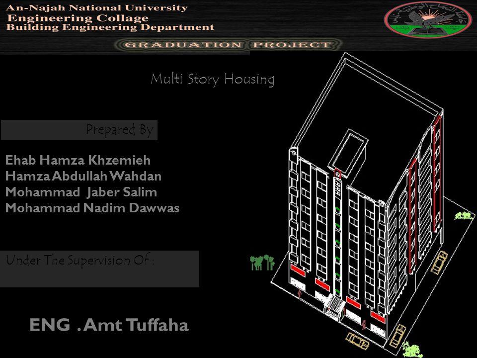 Prepared By Ehab Hamza Khzemieh Hamza Abdullah Wahdan Mohammad Jaber Salim Mohammad Nadim Dawwas Multi Story Housing Under The Supervision Of : ENG. A