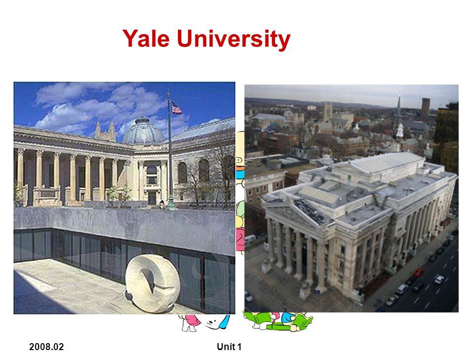 2008.02 Unit 1 Yale University