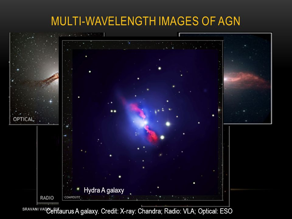 MULTI-WAVELENGTH IMAGES OF AGN INFRARED Centaurus A galaxy.