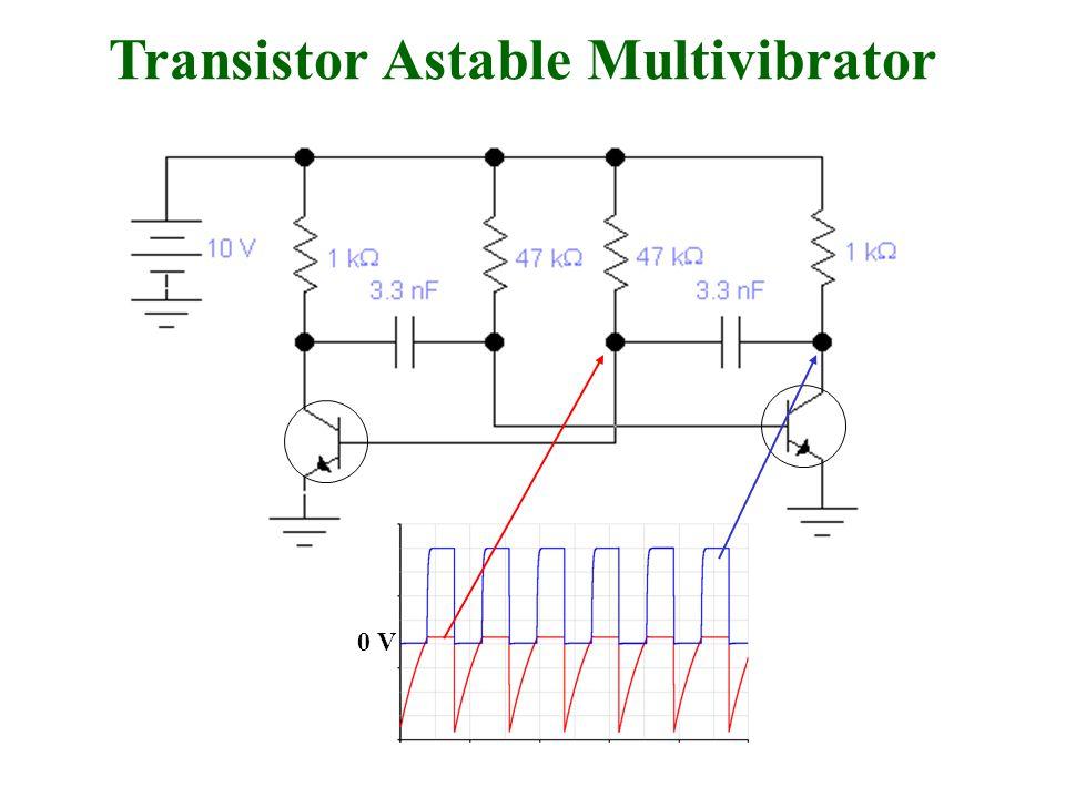 Transistor Astable Multivibrator 0 V