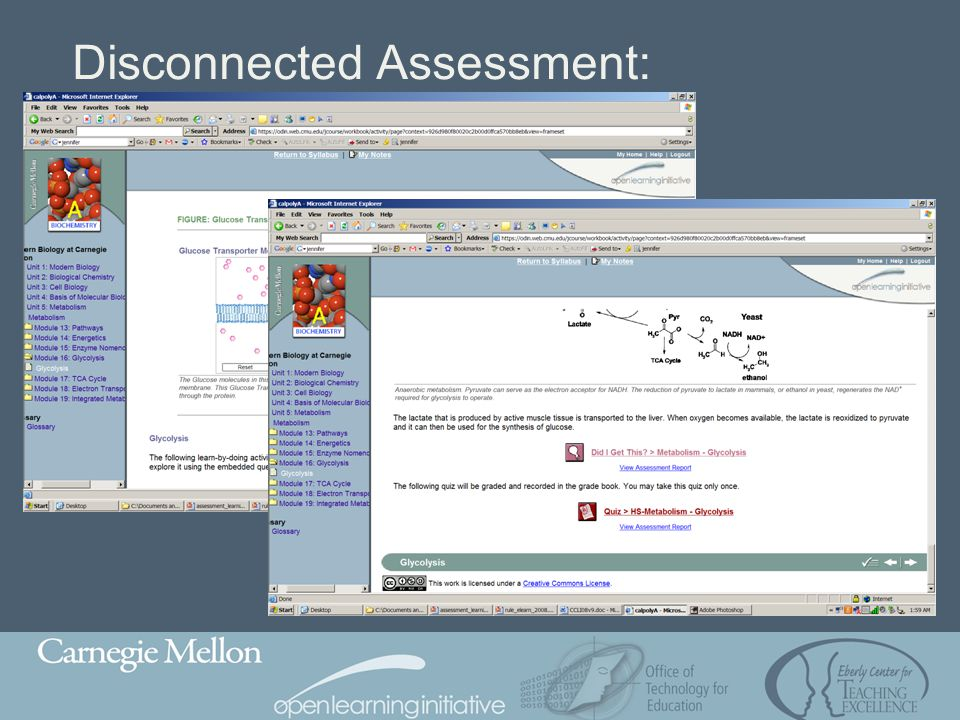Disconnected Assessment: