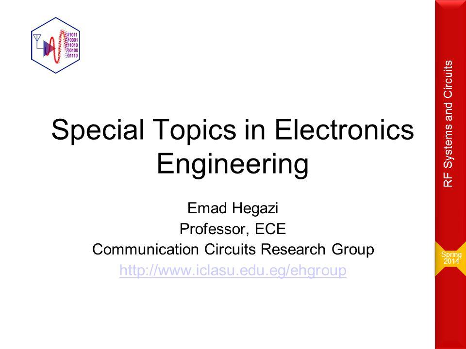 17! E s /N o or E b /N o =? Spring 2014 Spring 2014 RF Systems and Circuits