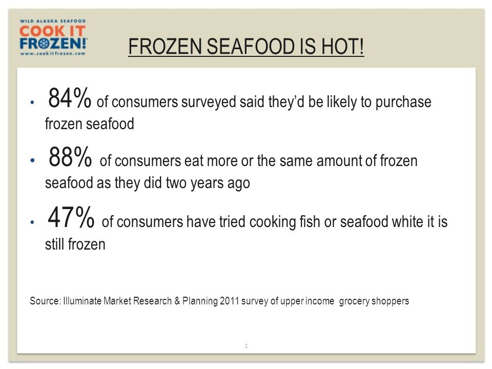 FROZEN SEAFOOD IS HOT.
