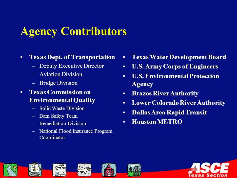 Agency Contributors Texas Dept.