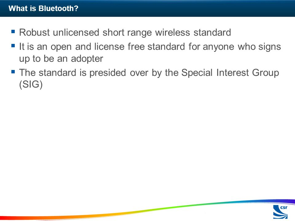 What is Bluetooth.
