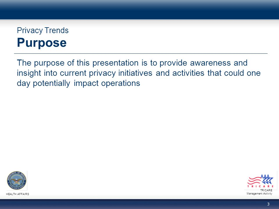 TRICARE Management Activity HEALTH AFFAIRS 23 Privacy Trends Summary You should now be able to: − Identify OCR Privacy and Security Framework principles − Explain recent HIPAA enforcement examples − Describe applicable provisions of ARRA