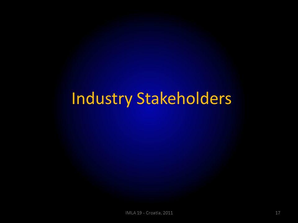 Industry Stakeholders IMLA 19 - Croatia, 201117