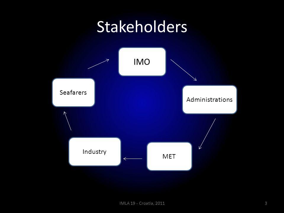 Stakeholders IMLA 19 - Croatia, 20113 IMO Administrations Seafarers Industry MET