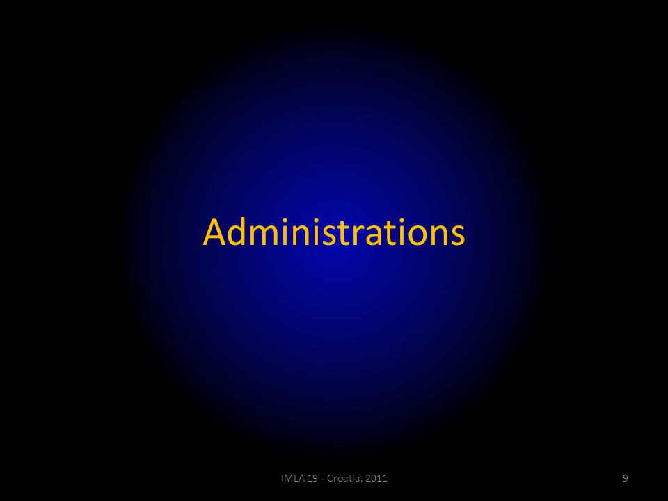 Administrations IMLA 19 - Croatia, 20119
