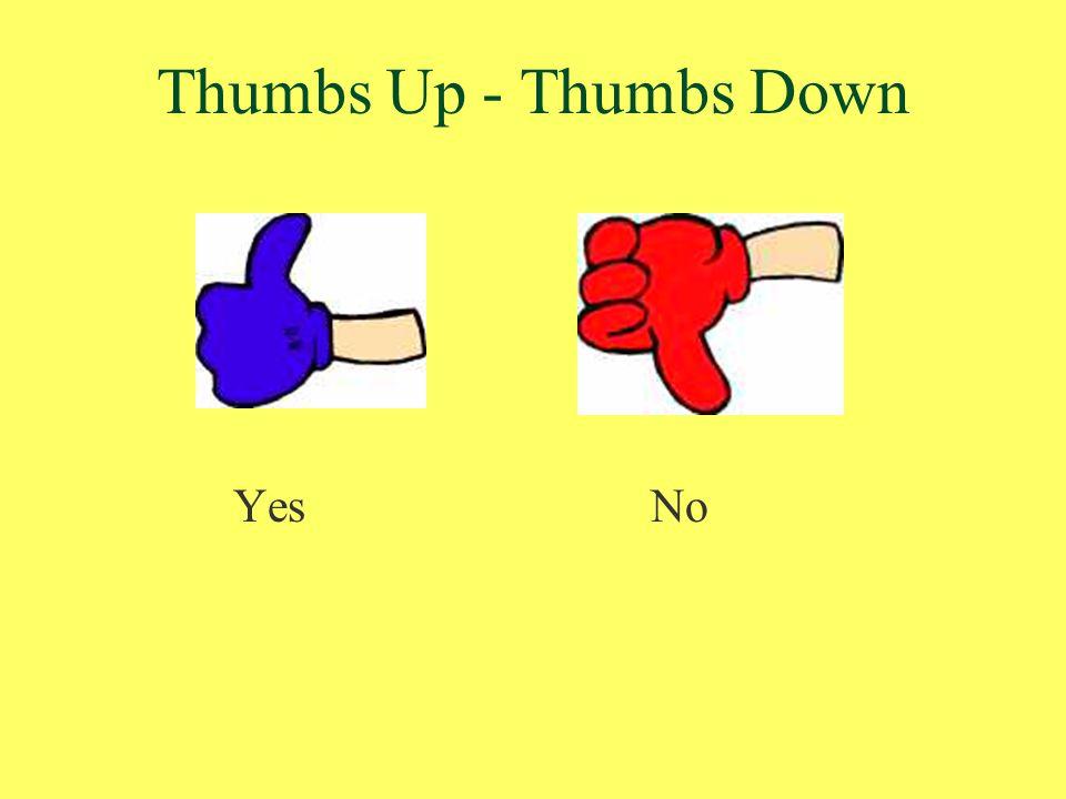 Thumbs Up - Thumbs Down YesNo