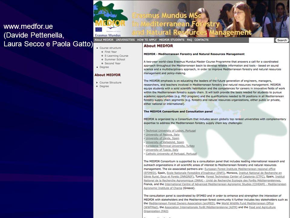 www.medfor.ue (Davide Pettenella, Laura Secco e Paola Gatto)
