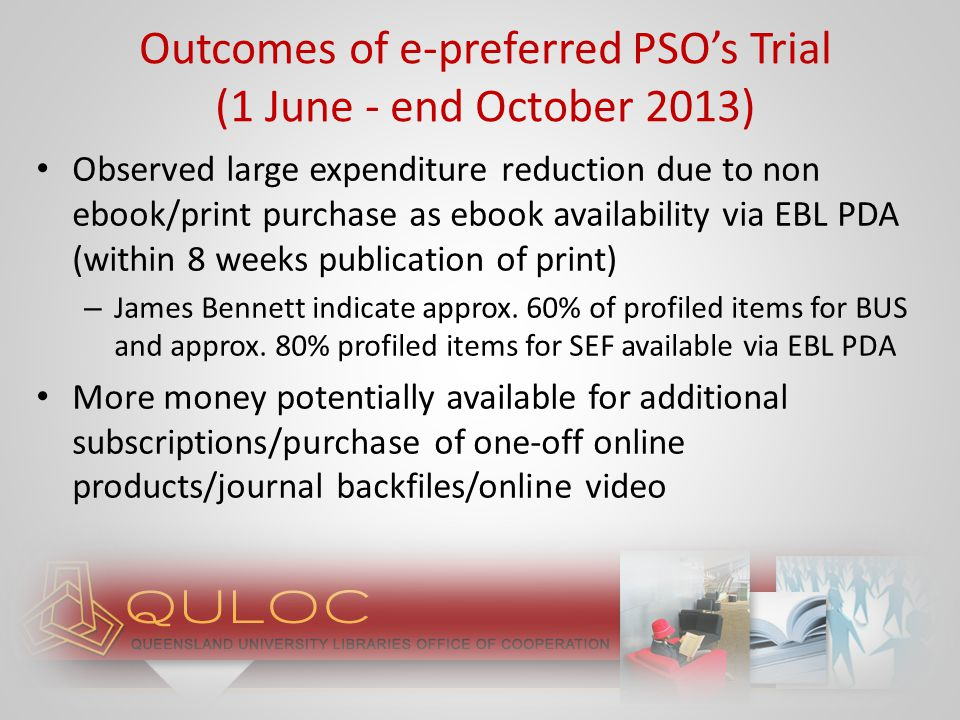 Run e-preferred PSO's across all profiles (not just SEF + BUS) Examine expenditure reduction Next steps…2014
