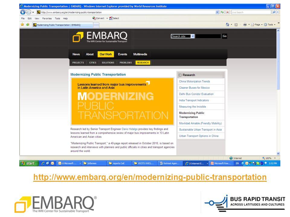 http://www.embarq.org/en/modernizing-public-transportation
