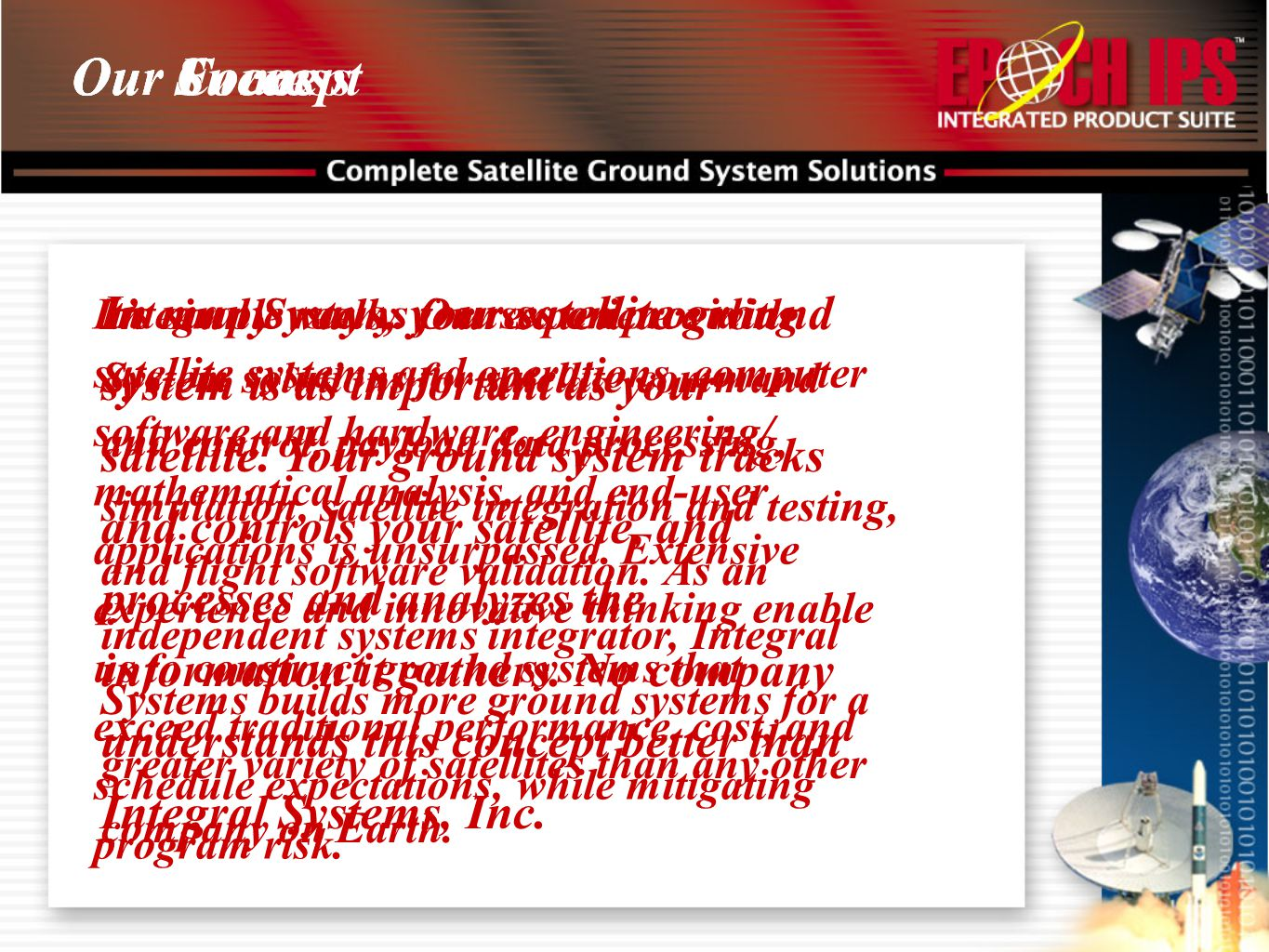 In many ways, your satellite ground system is as important as your satellite. Your ground system tracks and controls your satellite, and processes and