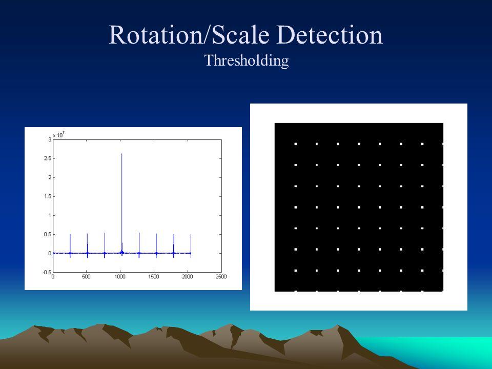 Rotation/Scale Detection Thresholding