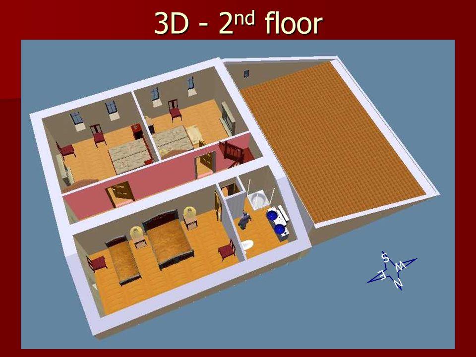 3D - 2 nd floor N W E S