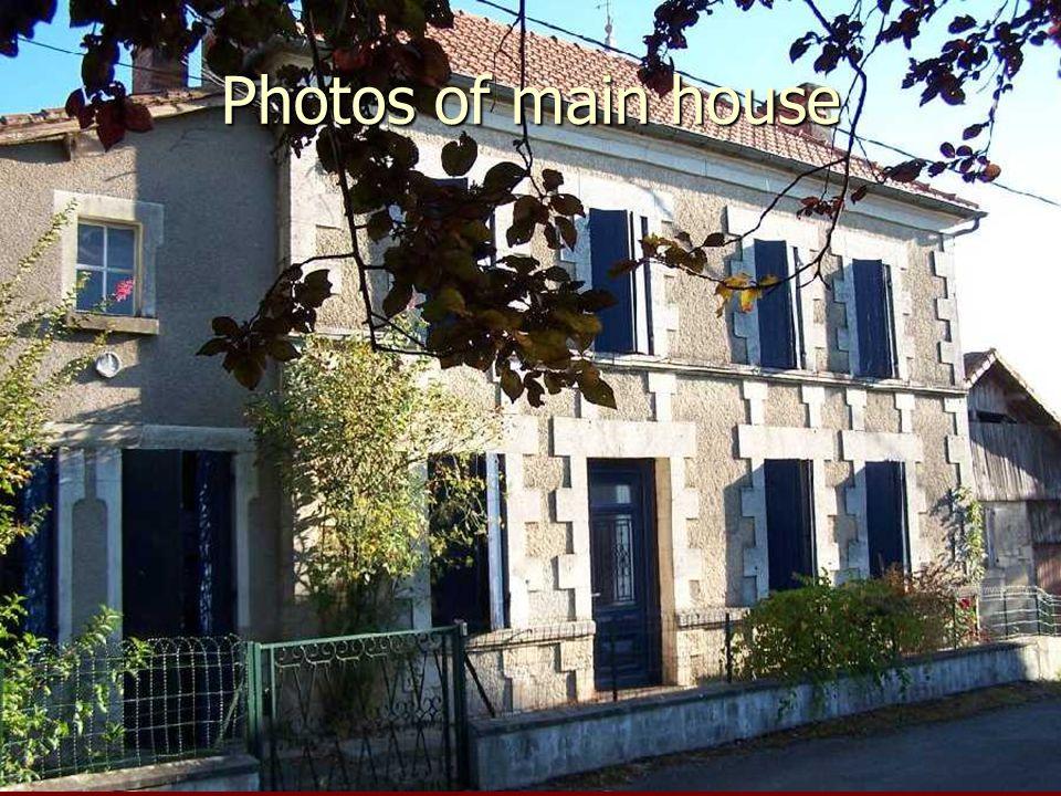 Photos of main house