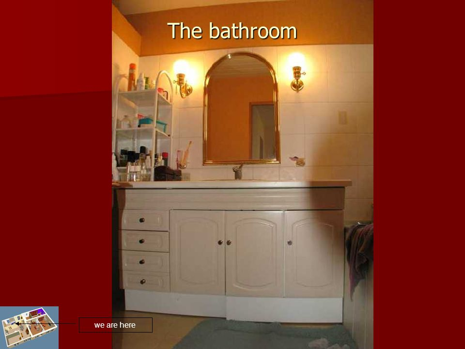 The bathroom we are here
