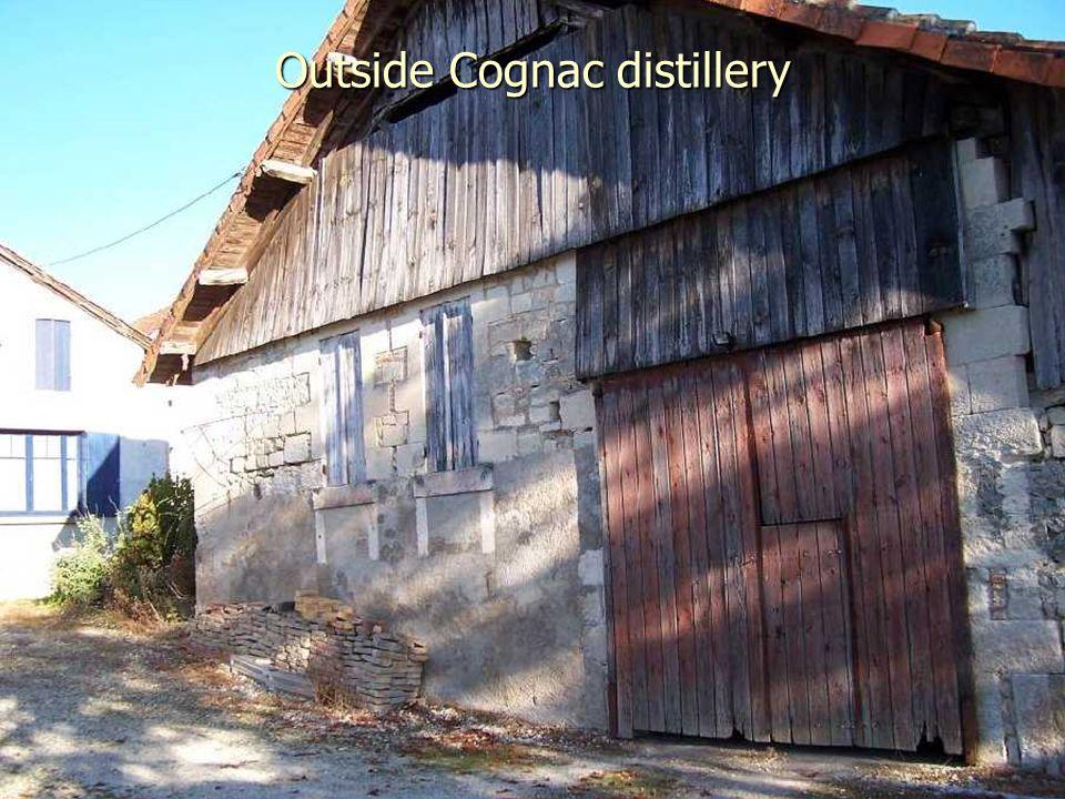 Outside Cognac distillery