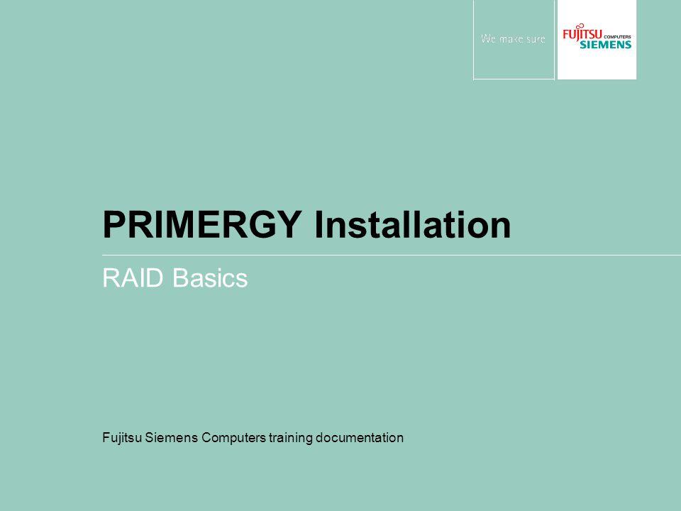 PRIMERGY Installation RAID Basics Fujitsu Siemens Computers training documentation