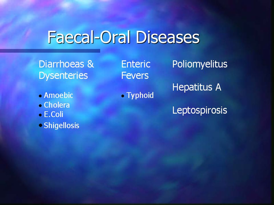 Faecal-Oral Diseases