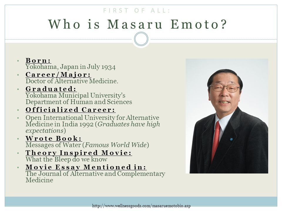 Who is Masaru Emoto.