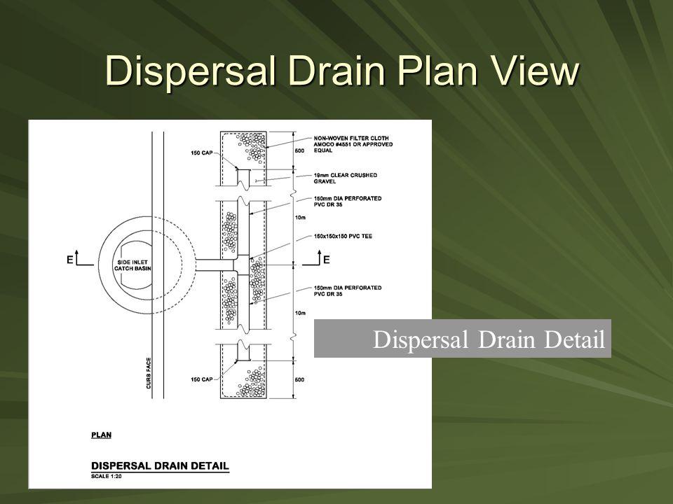 Dispersal Drain Plan View Dispersal Drain Detail